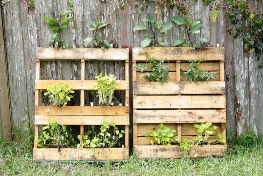 Gartenidee zum nachmachen – DIY-Hochbeete aus Paletten