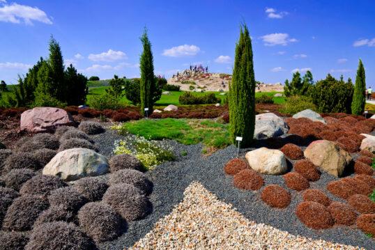 Park Idee mit einem Kiesbeet & vielen Bodendecker & Sukkulenten – S...