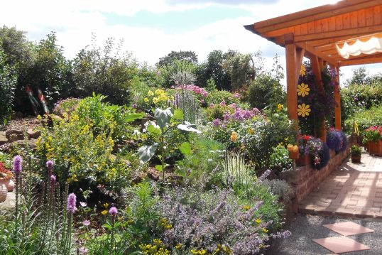 Idee für die Gestaltung eines Wildgartens oder Naturgartens – Beispiel mit Ho...