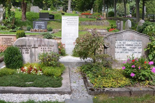 Konrad Alexander Friedrich Duden – Grab mit Grabstein des berühmten Lexikogra...