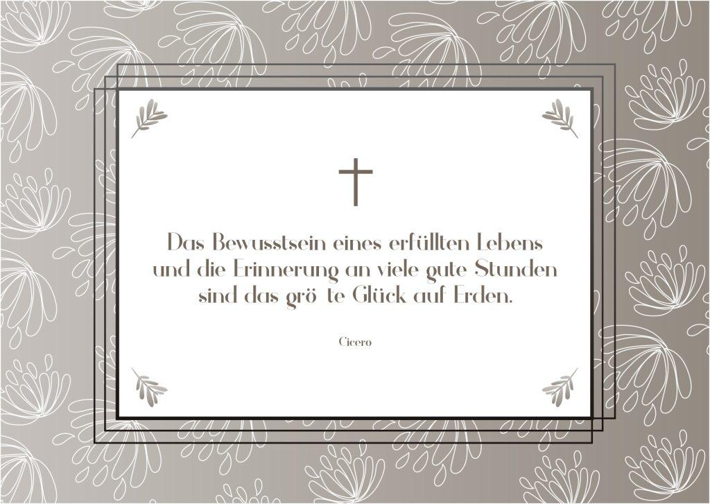 Beileidskarte oder Trauerkarte zum Downloaden mit Spruch
