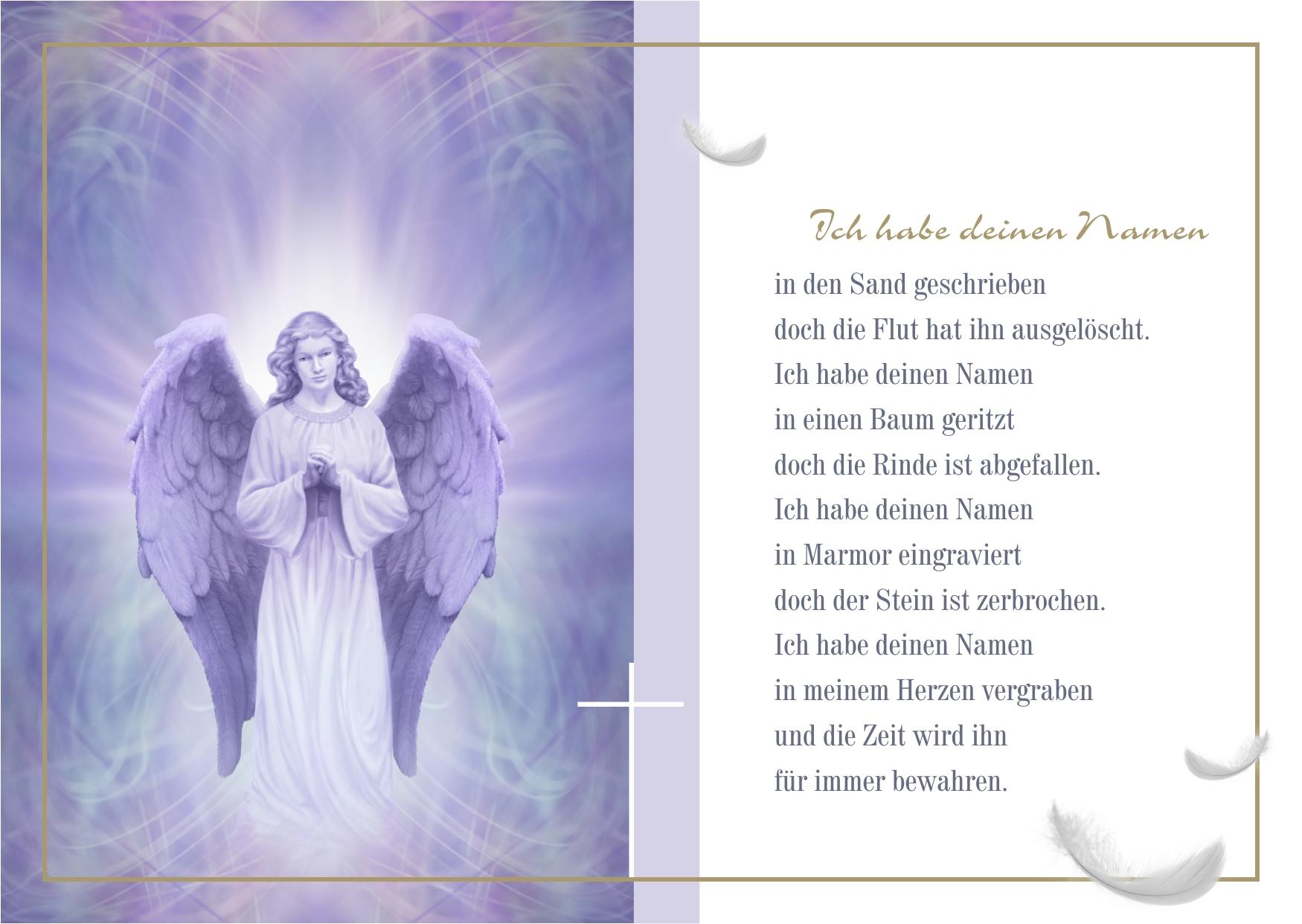 Trauerkarte mit Spruch kostenlos zum Download - Persönliche Worte für die Trauerkarte finden