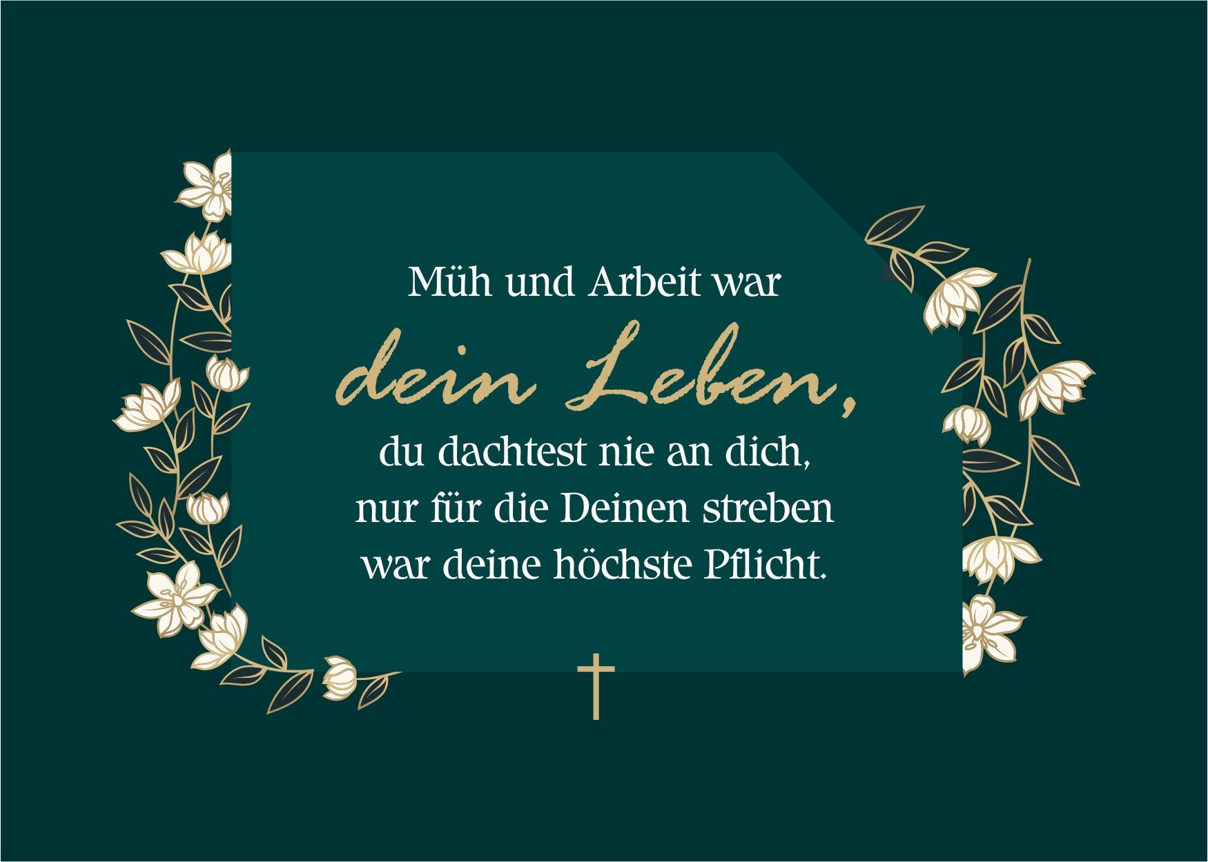 Stilvolle Abschiedskarte mit Abschiedsspruch kostenlos zum Download - Schöne Worte zum Abschied finden für Kollegen, Verwandte, Freunde & Familie - Trauerkarte mit Spruch oder Zitat zum Versenden