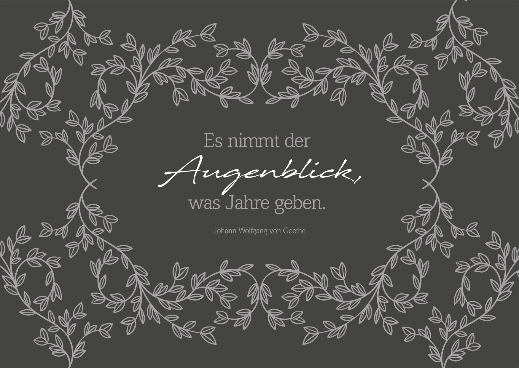 Trauerkarte mit Trauerspruch oder Beileidsspruch von Goethe - Kostenlose Kondolenzkarte zum Abschied versenden