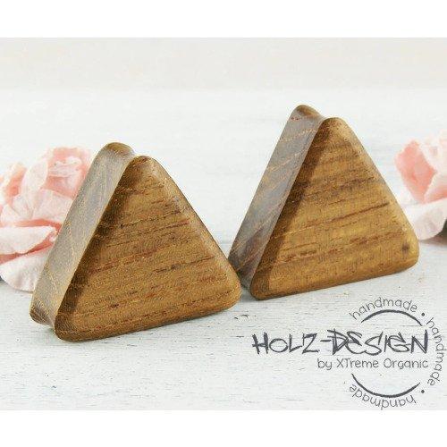 Sale 3-30mm Paar Pair Holz Flesh Tunnel Triangle Dreieck