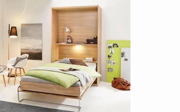 Schrankbetten zum Klappen mit Sofa, Wohnwand und Tisch