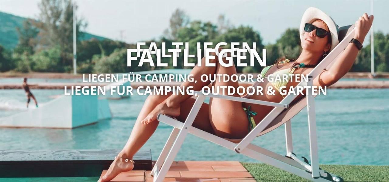 Strand Relax Faltliege Camping Outdoor Holz Kunststoff Aluminium günstig online kaufen