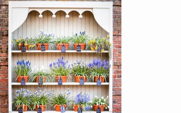 Wetterfeste Gartenregale aus Metall und Holz