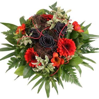 Blumenstrauß Schwarz Rote Verführung Vampir-Strauß