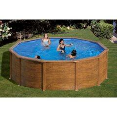 Summer Fun Stahlwand Pool-Set Holz-Dekor...