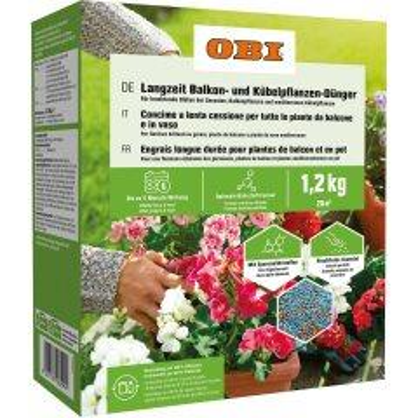 OBI Langzeit Balkon- und Kübelpflanzen-Dünger 1,2 kg