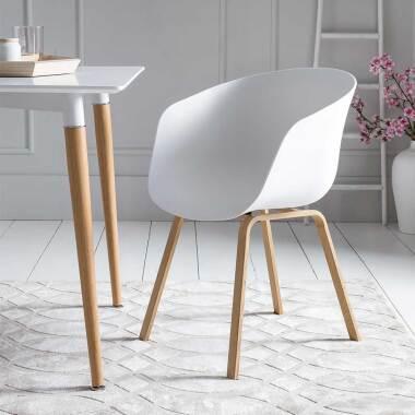 Armlehnenstühle in Weiß Kunststoff...