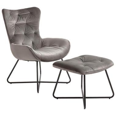 Ti`me Relaxsesselset , Dunkelgrau , Textil , 63x93.5x80 cm , ISO 9001