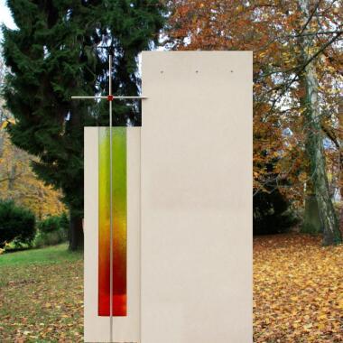 Urnengrabmal modern farbig Glas & Metall...