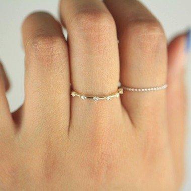 Diamant-Ring/Diamant-Hochzeitsband Diamant-Ehering Diamant-Verlobungsband