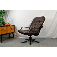 Lounge Drehsessel 60Er 70Er Design Leder Sessel Vintage Danish Dansk Denmark