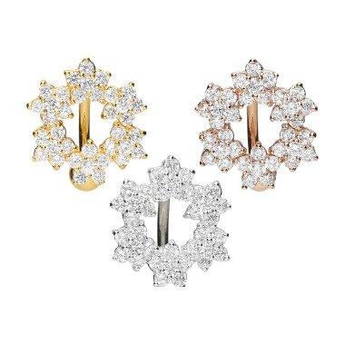 Piercinginspiration Titan Kristall Blumenkranz Bauchnabel Piercing Barbell