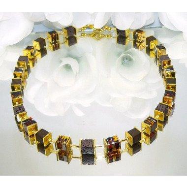 Kette, Halskette, Collier, Würfelkette, Würfel, Necklace, Glaswürfel