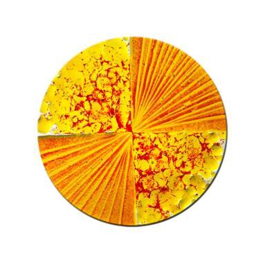 Glaselement rund in freundlichen Farben...