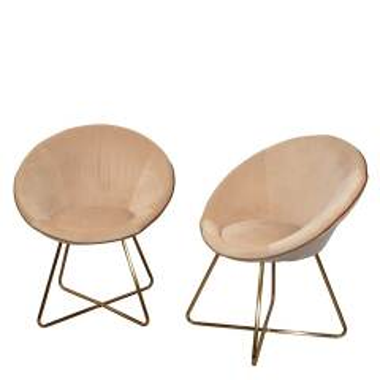 Esstisch Sessel in Creme Weiß und Goldfarben...