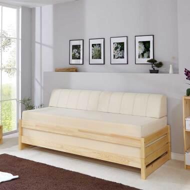 Holz Stapelliegen aus Kiefer Massivholz 90x200 cm (2-teilig)