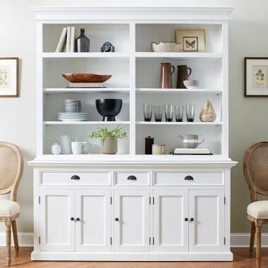 Küchenbuffetschrank in Weiß 180 cm breit