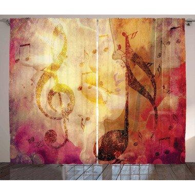 Thermovorhang-Set Musik mit Kräuselband...