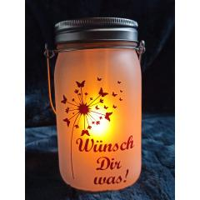 Gartenlampe | Solar Glas Leds Mit Wunschtext...