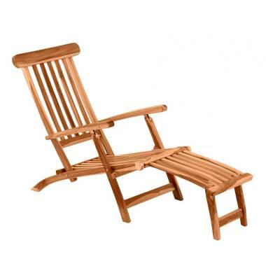 Garten Liegestuhl aus Teak Massivholz klappbar