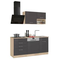 HELD MÖBEL Küchenzeile Haiti, mit E-Geräten, Breite 170 cm