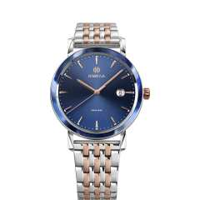 Armbanduhr Magno Jowissa blau / stahl / rosa
