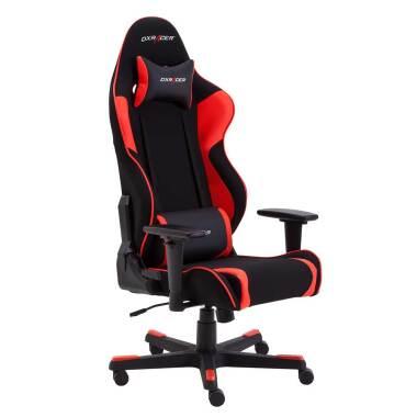 Gaming Sessel in Schwarz und Rot Lendenwirbel...