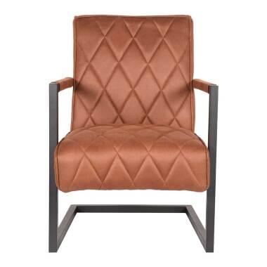 Schwing Sessel in Cognac Braun Microfaser...