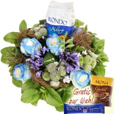 Blumen-Kaffee-Strauß RONDO Melange