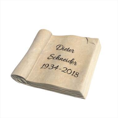 Grabstein Urnengrab Sandstein mit Buch...