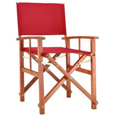 Regiestuhl Cannes Rot Eukalyptus FSC-zertifiz...