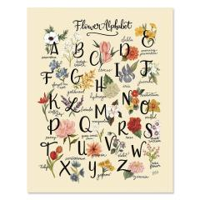 Blume Alphabet - Druck Frühling Dekor...