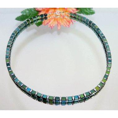 Kette, Halskette, Collier, Würfelkette, Würfel, Cube, Necklace, Hämatitwürfel