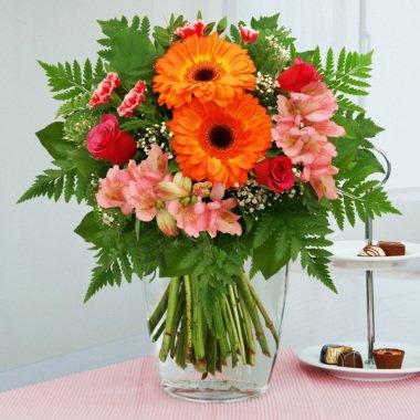 Blumenstrauß Blumenzauber Orange-Rosa