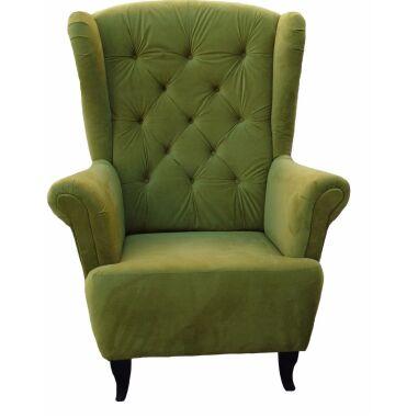 Sessel Ohrensessel Wohnzimmersessel Orlando Webstoff Olivengrün