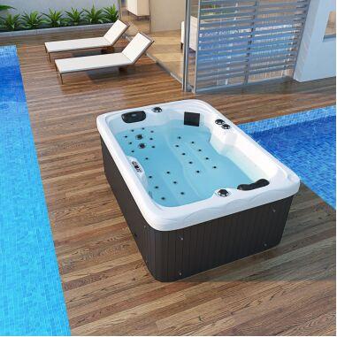 Outdoor Whirlpool LEVANZO weiß 195x135