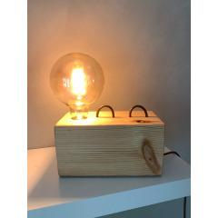 Lampe Klotz Mit Led-Leuchtmittel