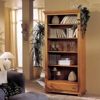 Landhaus Bücherregal aus Fichte Massivholz lackiert bei Pharao24.de