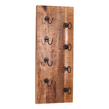 Wand Wein Regal aus Mangobaum Massivholz Landhausstil