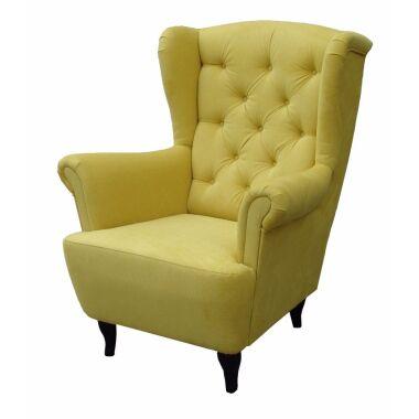 Sessel Ohrensessel Wohnzimmersessel Orlando Webstoff Gelb