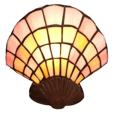 Deko-Tischlampe 6000, Glasmuschel, Tiffany-Design
