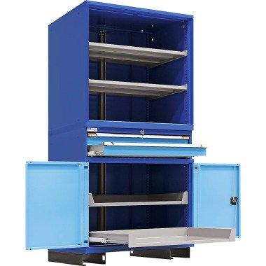 Modulares Schranksystem 2 Schubladen, 2 Fachböden, 2 Auszugböden HxBxT 2100 x 10 bei Kaiserkraft