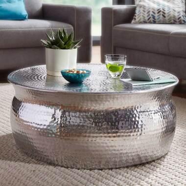 Couch Beistelltisch aus Aluminium Loft Style