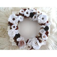 Kranz Blumenkranz Naturfarben Weiß, Handgemachte Blumen Spitze Jute Türkranz 33 bei Etsy