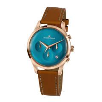 Herren-Uhr Chronograph Jacques Lemans Hellbraun